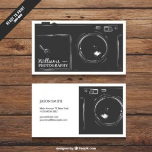 20 best photography business card templates free samples retro photography visit card reheart Choice Image
