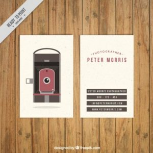 20 best photography business card templates free samples vintage camera photo studio card reheart Choice Image