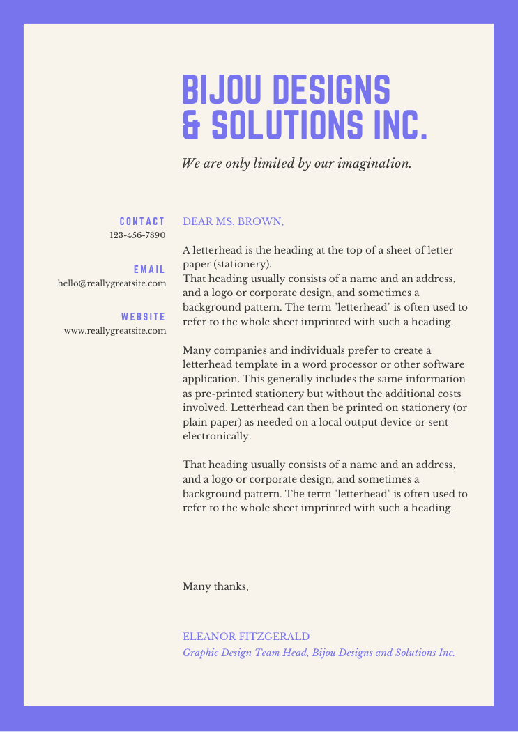 9 Amazing Business Company Letterhead Designs Includes