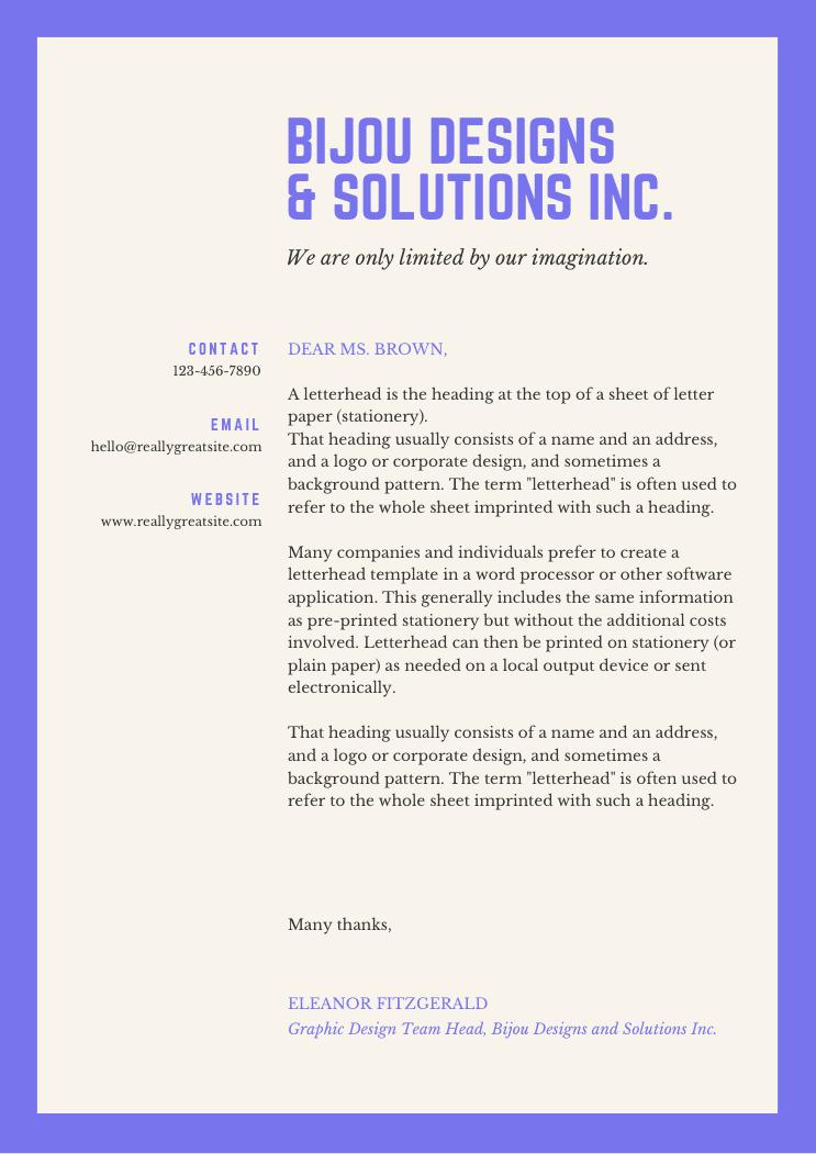 9 amazing business   company letterhead designs  includes