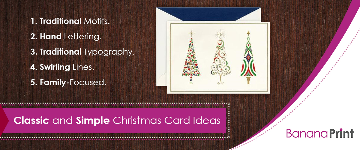 Classic and Simple Christmas Card Ideas