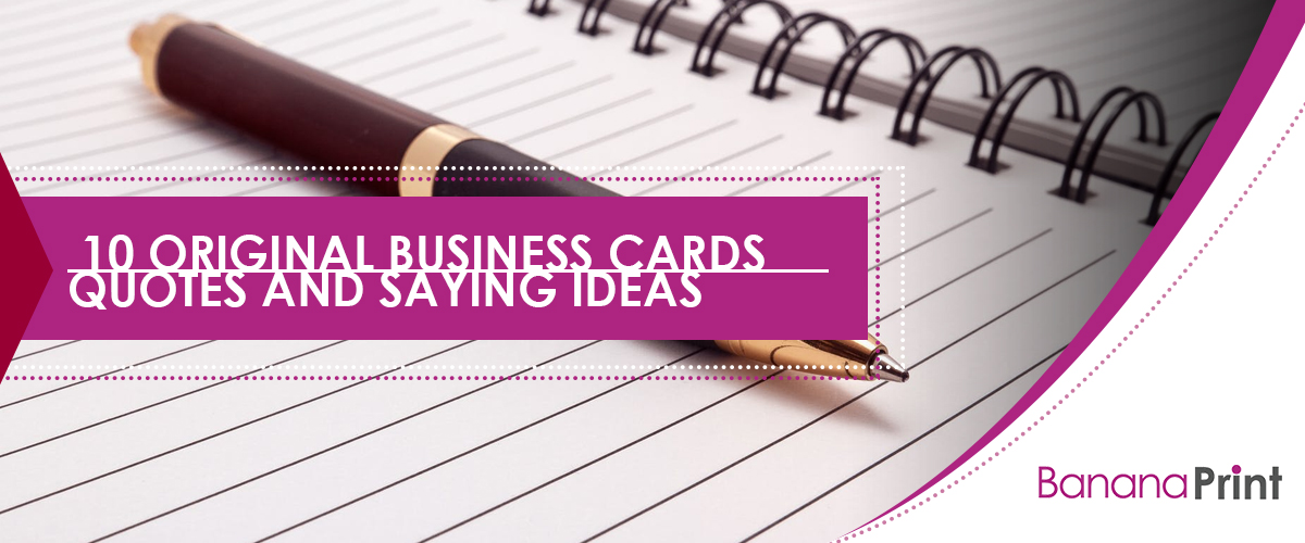 10 Original Business Cards Quotes and Saying Ideas